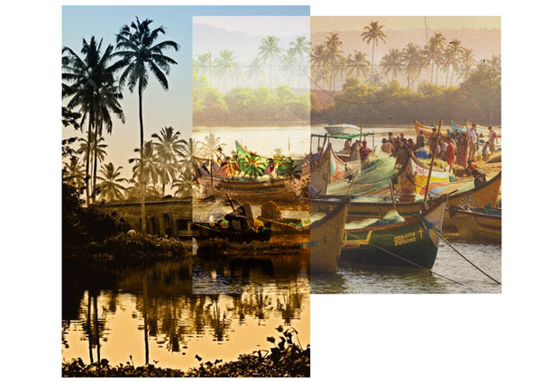 Beach - boat - tropical - Goa - Antik Batik