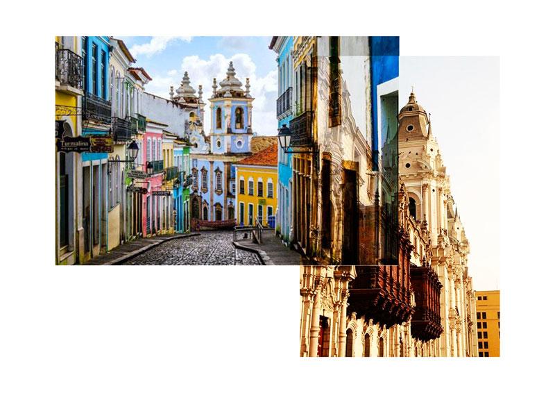 Lima - rue - couleurs - architecture - Antik Batik